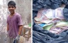 A bricklayer finds bag full of money and returns it to the owner: he is rewarded with a steady job