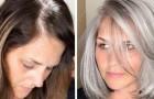 15 Frauen, die das Färben aufgegeben haben und stolz die natürliche Schönheit grauer Haare zur Schau tragen