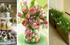 Décorez avec style pour Pâques en créant des centres de table fleuris, élégants et super colorés