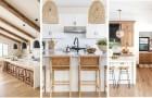 Cuisines blanches et bois clair : un binôme intemporel et super polyvalent pour vos espaces