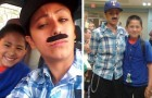 A single mom dresses up as a man to accompany her son to Father's Day at school