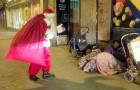 Deze kerstman gaat langs de straten: zijn acties verwarmen je hart!