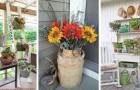 Donnez une touche vintage à votre porche en recyclant de vieux objets et de vieux meubles