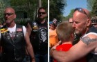 A group of motorcyclists comes to the aid of a bullied boy