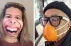16 Mal haben Menschen ihre Masken angepasst - mit Ergebnissen, die ans Lächerliche grenzen