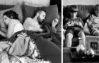 Questo fotografo elimina i telefoni dai suoi scatti per mostrarci quanto siamo assorbiti dalla tecnologia