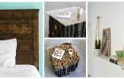 Aggiungi dettagli curati all'arredo di ogni stanza con semplici progetti fai-da-te per lavorare il legno