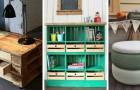 Pallet, cassette di legno e non solo: arreda la casa con tanti fantastici mobili fai-da-te