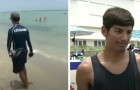 He saves a life but is fired: an indignant city supports him and the lifeguard has his revenge