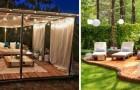 Salons et coins relax dans le jardin : de nombreuses idées pour créer de beaux espaces pavés en bois