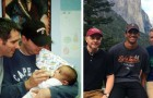 A gay couple finnd an abandoned baby on the subway: today he is their son
