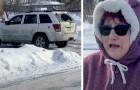Hon tittar ut från huset med en kikare och ser registreringsskylten på bilen av en efterlyst man och hjälper till att rädda ett kidnappat barn