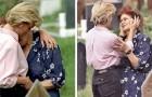 Jenes Mal, als Prinzessin Diana eine trauernde Mutter beim Grab ihres Sohnes umarmt hat