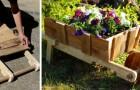 Construisez une splendide jardinière en forme de brouette en recyclant les palettes