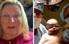"""""""Meu filho nasceu com 6 meses!"""": mamãe dá à luz a um bebê três vezes maior que o normal"""