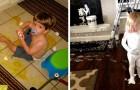 Piccoli disastri: 15 divertenti foto di bambini che hanno messo a dura prova la pazienza dei loro genitori