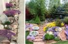 Décorez les parterres avec des pierres et des fleurs et créez d'extraordinaires jardins de rocaille
