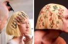 Ein Friseur entwickelt eine Technik zum Bedrucken von Haaren: Kunst und Technik verbinden sich zu eleganten Frisuren