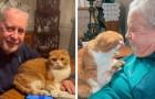 El gato de la hija advierte que el papá tiene cáncer y se niega a dejarlo solo: