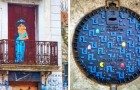 Un artista anima le strade della città con storie e personaggi che interagiscono con l'ambiente: 20 opere suggestive