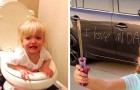16 afbeeldingen laten ons zien waarom we kinderen geen minuut alleen mogen laten