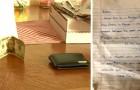 Ele encontra uma carteira perdida e adiciona algum dinheiro antes de devolvê-la ao seu legítimo proprietário