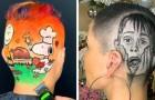 Un peluquero se divierte cortando el cabello de sus clientes en los modos más absurdos: 15 de sus mejores obras