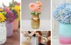 Vasi per fiori super-creativi? Realizzali decorando i barattoli di vetro della marmellata