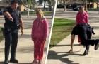 Poliziotto ferma una famiglia di senzatetto e gioca a campana con la loro bimba: le ha portato un po' di conforto