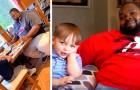 Bambino di 6 anni vede un uomo che mangia da solo al ristorante: