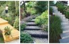 Scale in giardino: arreda i tuoi spazi aperti con fantastiche idee in legno, pietra, cemento e non solo