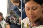 A woman gives birth unexpectedly during a scheduled flight: