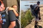 Un insegnante si offre di portare sulle spalle un'alunna disabile per permetterle di andare in gita scolastica