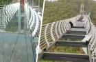 Un touriste reste suspendu à 100 mètres de hauteur alors que le pont de verre est détruit par des rafales de vent