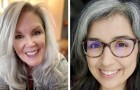Diese Frauen zogen es vor, ihre Haare im Naturzustand zur Schau zu stellen, ohne mit aller Gewalt auf Färbemittel zurückgreifen zu müssen