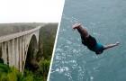 Er springt von einer Brücke, um nach einem schrecklichen Autounfall ein in den Fluss gefallenes Kind zu retten