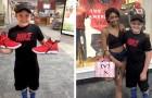 Ragazza compra un paio di scarpe ad un bimbo che non poteva permettersele: un gesto di grande generosità