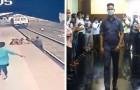 Un bambino cade accidentalmente sui binari del treno, ma un uomo velocissimo riesce a salvarlo: evitata la tragedia