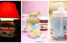 Pots de Nutella : beaucoup d'idées créatives pour les transformer en de nombreux objets différents