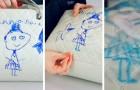 Ein fünfjähriges Mädchen malt mit einem Filzstift auf die 2.300-Euro-Handtasche ihrer Mutter