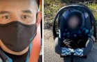 Delivery man finds a 5-month-old baby abandoned on the side of the road in his car seat