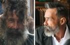 Een dakloze man wordt door de kapper geschoren: zijn familie herkent hem nadat de foto's viraal zijn gegaan