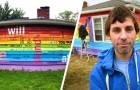 Il achète une maison en face d'une église anti-gay et la peint aux couleurs de l'arc-en-ciel