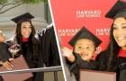 Single-Mutter macht ihren Abschluss in Harvard und erscheint mit ihrer Tochter zur Zeremonie