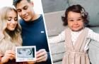 Met 34 weken oud had ze al een flinke bos haar: