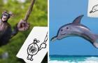 Un père donne vie aux dessins d'enfants et les transforme en animaux à l'allure bizarre