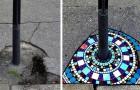 Ein Künstler repariert Schlaglöcher im Bürgersteig mit schönen Mosaiken: Seine Werke zaubern ein Lächeln auf unsere Gesichter