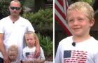 Ein siebenjähriger Junge hat es geschafft, seine kleine Schwester und seinen Vater zu retten, die in der Strömung des Flusses feststeckten