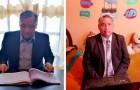 Questo insegnante indossa giacca e cravatta per fare lezione a distanza dalla sua umile camera da letto
