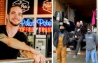 Il proprietario di una caffetteria dona ogni anno migliaia di cappotti e coperte ai senzatetto della sua città